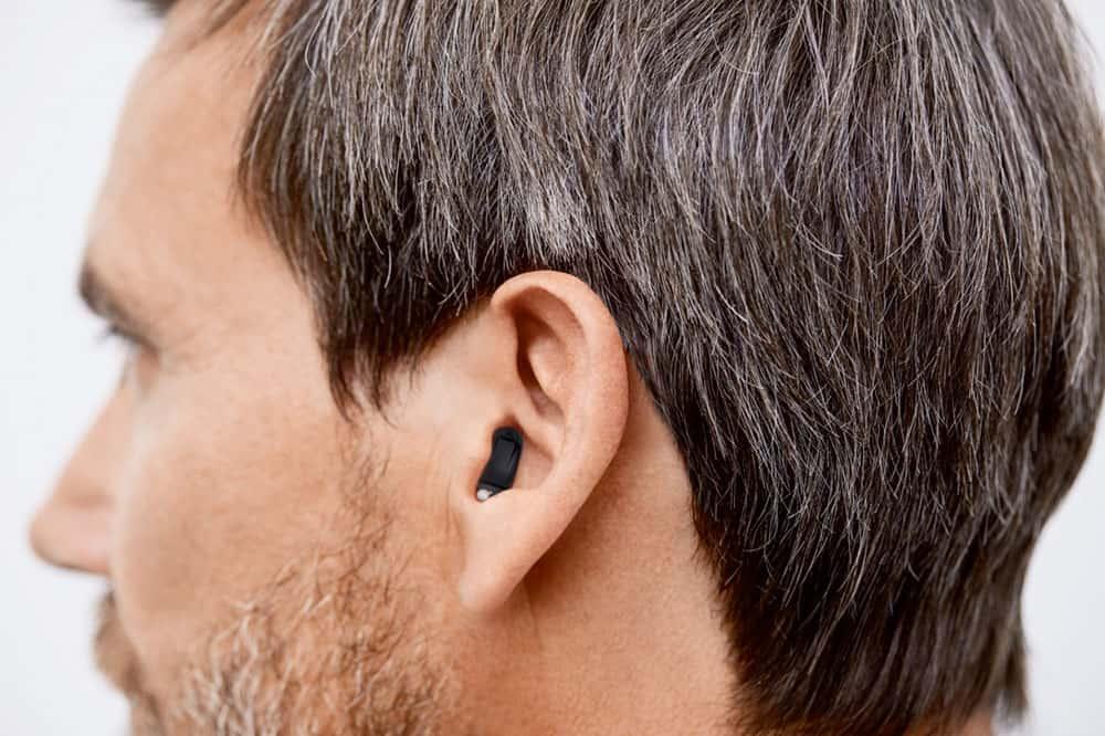 Apparecchio acustico invisibile Signia Silk X